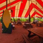 Under the big top at the maze