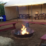Fire pits at the maze